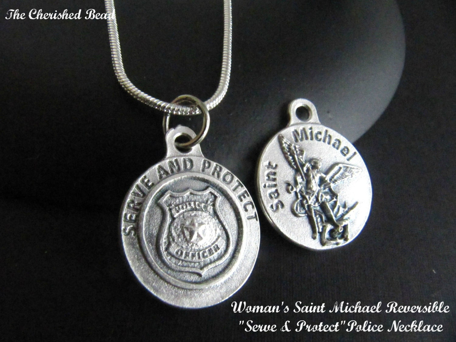 catholic michael medal necklace for officers