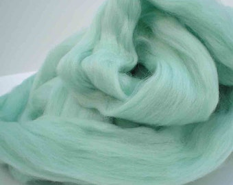 """Ashland Bay Solid Colored Merino for Spinning or Felting """"Mint""""  4 oz."""