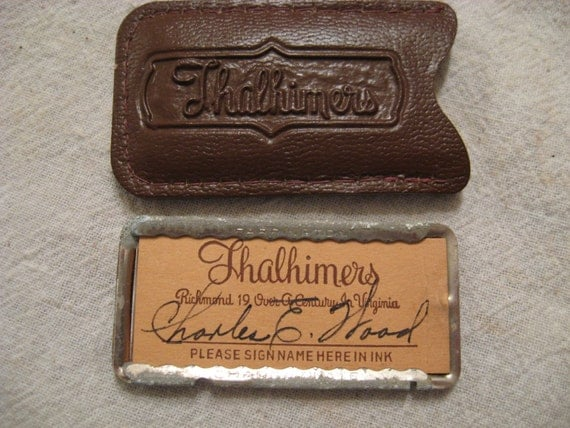 1930 Credit Card Charge Plate Thalhimers Richmond Va Charles