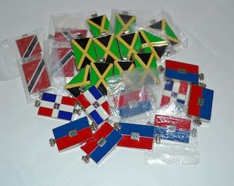 lot of 25 various Flag Pendant Charm sliders