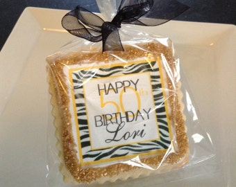 50th birthday personalized cookie favors or 40th 60th 70th 80th 90th