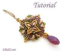 Tutorial Super Square Earrings - Beading Tutorials by Ellad2