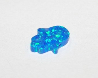 13x11mm Dark BLUE OPAL HAMSA Fatima Hand Gemstone Bead Charm Pendant - Fatmanin Eli - Jewelry Making - Free Shipping Worldwide