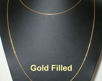 40 inch 102 cm 14kt GOLD FILLED 0.6mm Fine Chain NECKLACE / Belly Chain - Free Shipping Worldwide