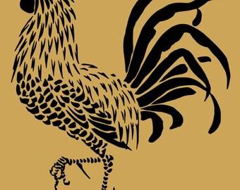 Rooster Stencil No 2 10 x 9 Inch