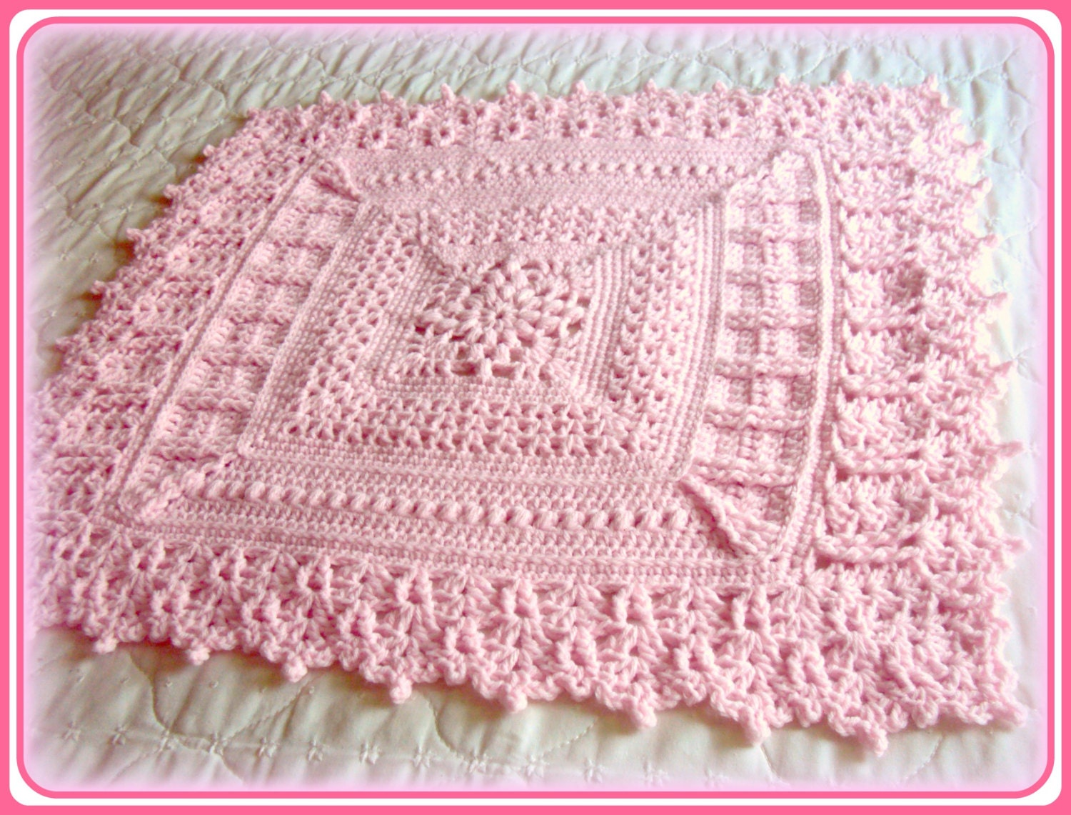 Crocheting Baby Blanket : crochet flower baby blanket pattern
