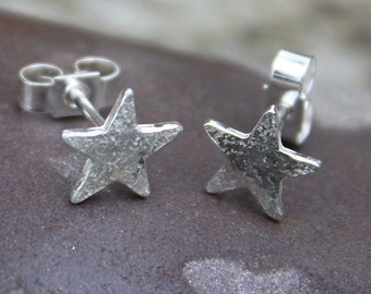 Tiny Silver Star Studs