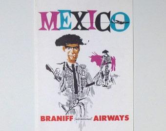 Braniff International Airways - Mexico - Menu Print