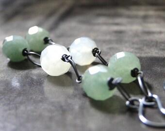 FINAL SALE Spring Fling Accessories, Dangle Earrings, Jade Gemstone Earrings, Classic Simple Earring, Drop Earrings, Accessories, Gift Box