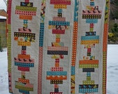 PDF Quilt Pattern for jelly Rolls 4 sizes Baby to Queen - Balancing Act