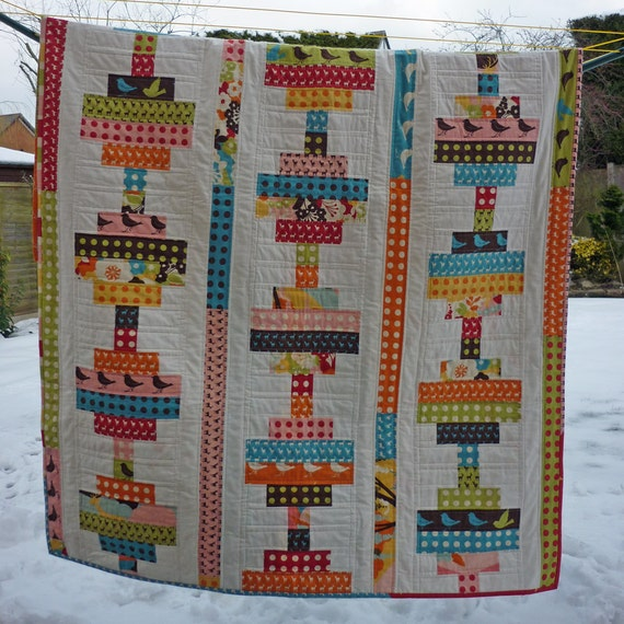 Items Similar To Pdf Jelly Roll Quilt Pattern 4 Sizes Crib