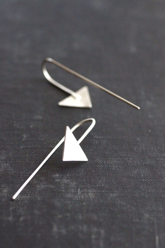 Arrow Hook Earrings - Sterling Silver