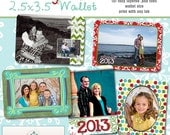 INSTANT DOWNLOAD - New  Years Wallet Collection- 5 custom photo templates