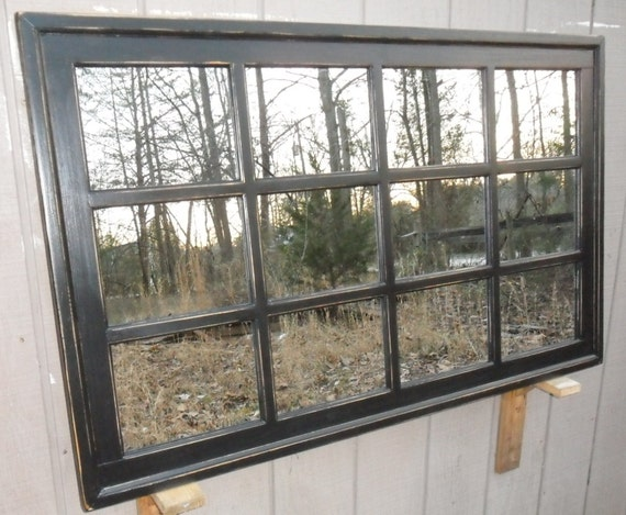 Items Similar To Multipanel Mirror Black Distressed