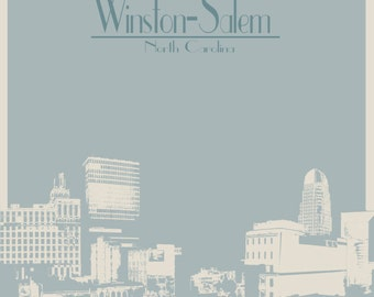 The City of Winston-Salem North Carolina Print