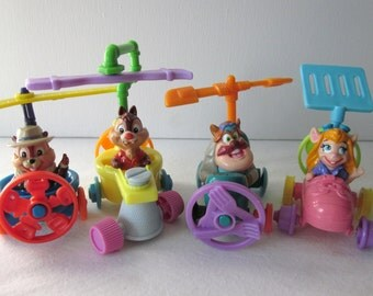 Chip N Dale Rescue Rangers Mix n Match Cars - McDonald's Set