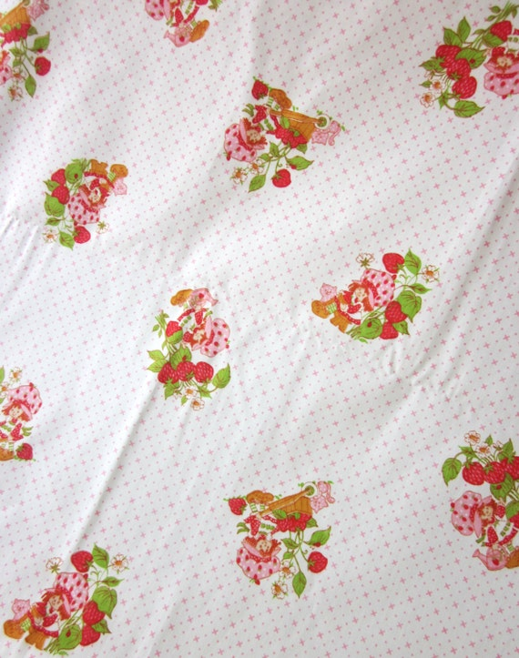 Vintage Strawberry Shortcake Fabric 106