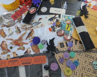 Vintage Halloween Ephemera-Box Lot-Wholesale-100 plus Pieces