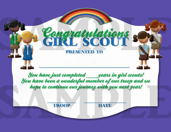 picture about Girl Scout Certificates Printable Free titled 22 Totally free PRINTABLE CERTIFICATES Woman SCOUTS, No cost SCOUTS