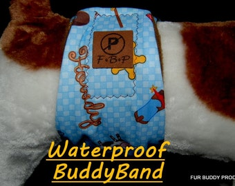 """Sample Sale Waterproof BuddyBand Diaper for Dogs with Pul and Zorb  5.5"""" Wide, 19-21"""" waist"""
