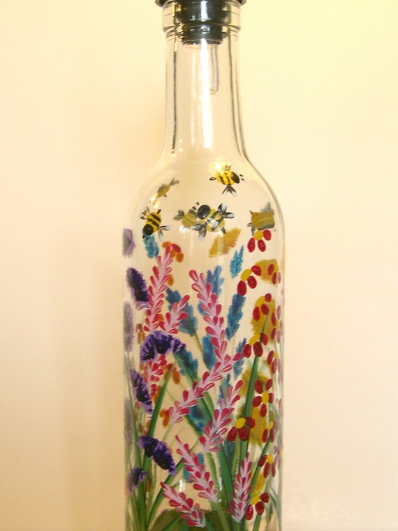 Hand Painted Lotion Bottles