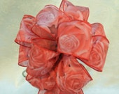 Wedding pew bow Red Roses Bow (Valentine)