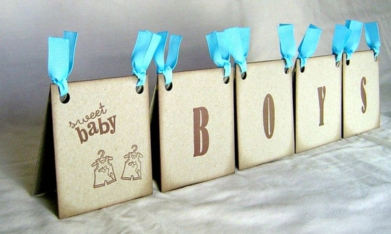 Twin boys baby shower centerpiece vintage inspired brown and for Baby shower decoration twins