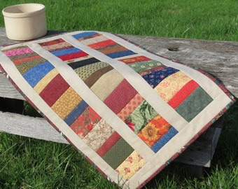 Back Roads Scrappy Quilted Table Runner