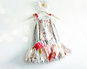 Shabby Chic Upcycled Girl's Dress Tattered Skirt Fairy Dress Toddler Clothing Eco Friendly Party Dress Colorful Clothes 5T 'SAMMI'