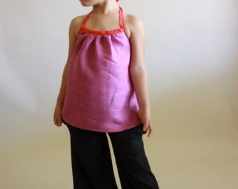30 - minute summer halter / pdf sewing pattern sz 12m to 14/16 / instant download