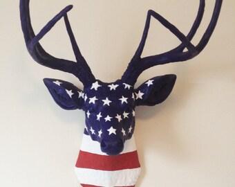 USA Deer Head Wall Mount