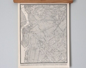Antique City Map of 1930s Brooklyn, New York City