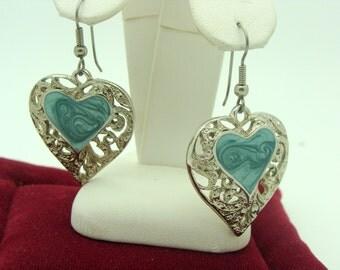 Decorative Heart Earrings