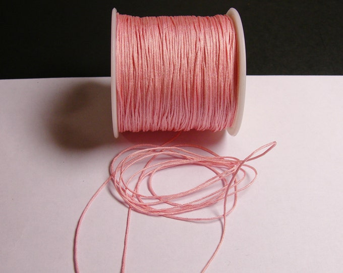 Nylon Cord - knotting/beading cord - 1mm - 70 meter - 230 foot - pink - N8