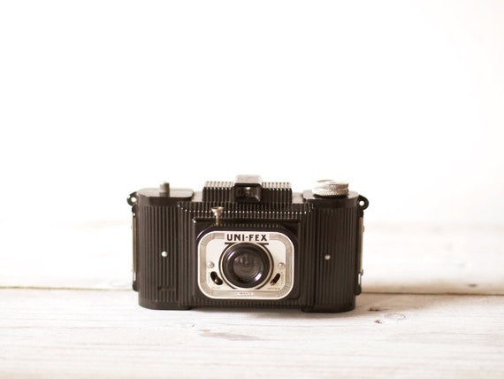 French vintage camera, Bakelite Fex Indo Uni-Fex, Camera collectible