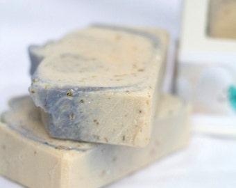Lavender & Chamomile handmade soap (cold process) 4.5 oz with Coconut Milk, shea butter, aloe vera