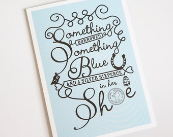 Something Blue Wedding Card