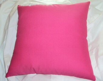 Solid Hot Pink Cotton Decorative Pillow Cover - BESTSELLER - Available in 16 18 and 20 Inch