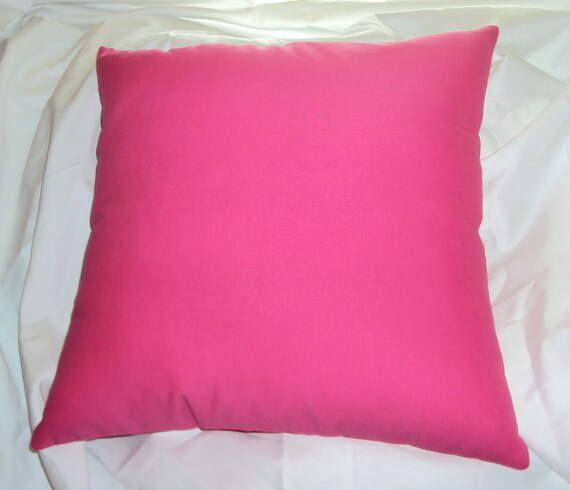 Items similar to Solid Hot Pink Cotton Decorative Pillow Cover - BESTSELLER - Available in 16 18 ...