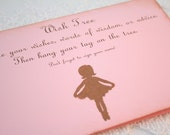 Ballerina Wish Tree Instructions Sign Baby Shower Birthday Party Stamped Vintage