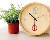 new works in 2013 HAO BY TAKEMOTO handmade round bamboo wall clock