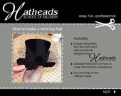 How to make a mini top hat pdf E-book pattern