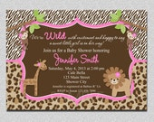 Jungle Baby Shower Invitation Safari Jungle Baby Shower Invitation