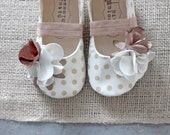 Baby Girl Shoes Toddler Girl Shoes Soft Soled Shoes Spring Shoes Summer Shoes White Shoes Beige Shoes Polka Dot Shoes-Edalene