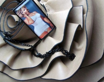 Pendant Necklace - Curvy Beauties - Marilyn Monroe - By Mixed Media Artist Malinda Prudhomme