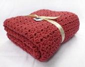 Rosey lap blanket or large baby blanket - Rose crochet afghan