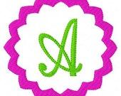 INSTANT DOWNLOAD Chevron Zig Zag Circle Machine Embroidery Monogram Font Design Set