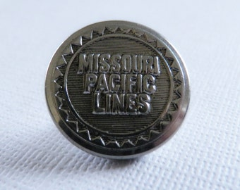 Vintage Missouri Pacific Lines Railroad Button