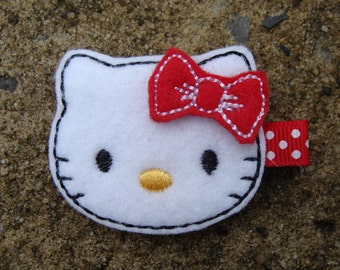 Red Kitty Hair Clip