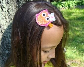Embroidered Owl Hair Clip Owl Hair Clip Felt Hair Clip you choose any ONE clip